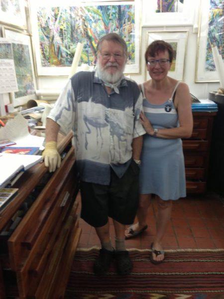 Frau Futterer mit dem Maler Sir Michael Adams
