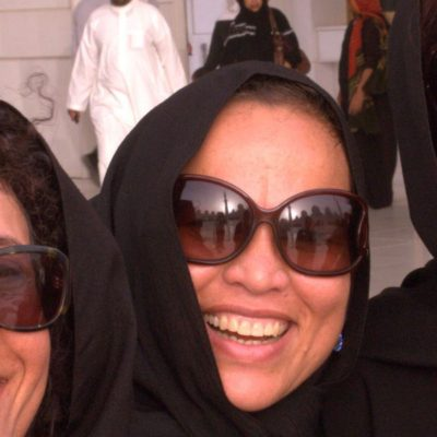 Trauminsel Reisen Mitarbeiterinnen Maisie, Tessie und Marie in Abu Dhabi