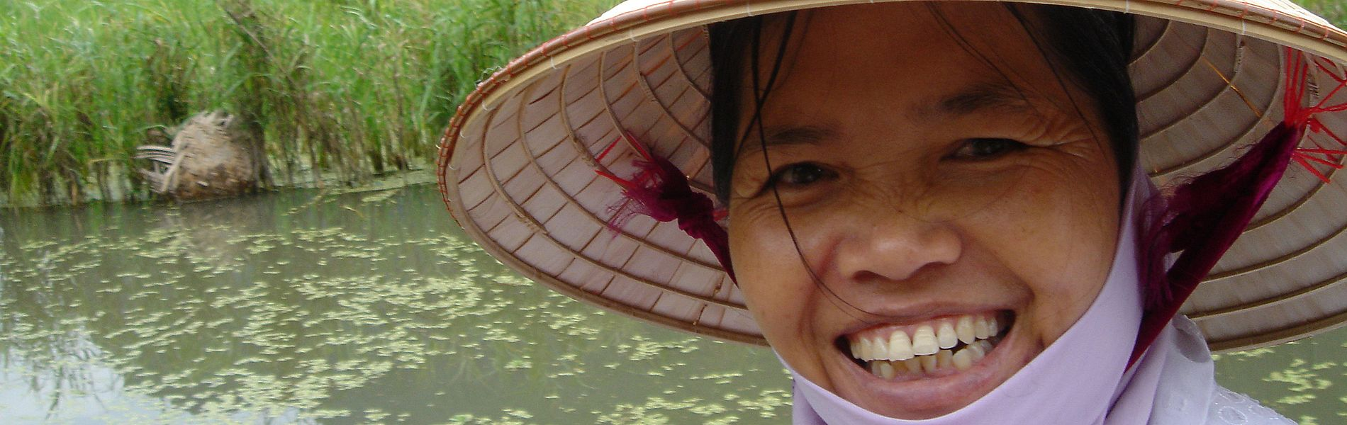 Lächelnde Frau, Vietnam, Ninh Binh