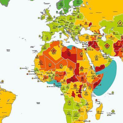Sicherheitsrisiken Karte 2018 Weltkarte
