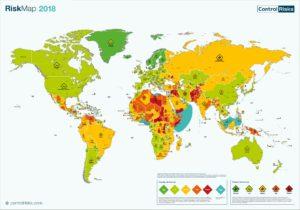 Karte der Risikogebiete 2018