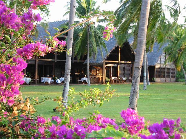 Der Speisesaal des Hotel Anjajavy, Madagaskar