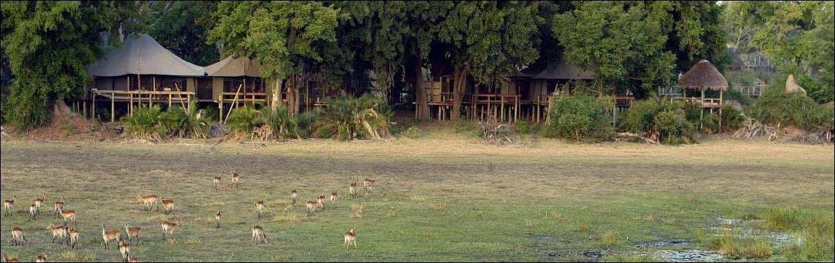 Fernansicht des Mombo Camps