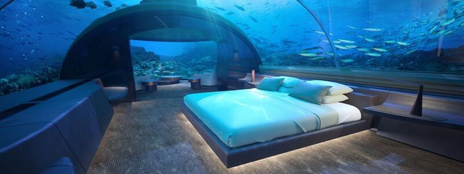 The Muraka - Schlafzimmer der Unterwasser Suite -Conrad Maldives Rangali Island