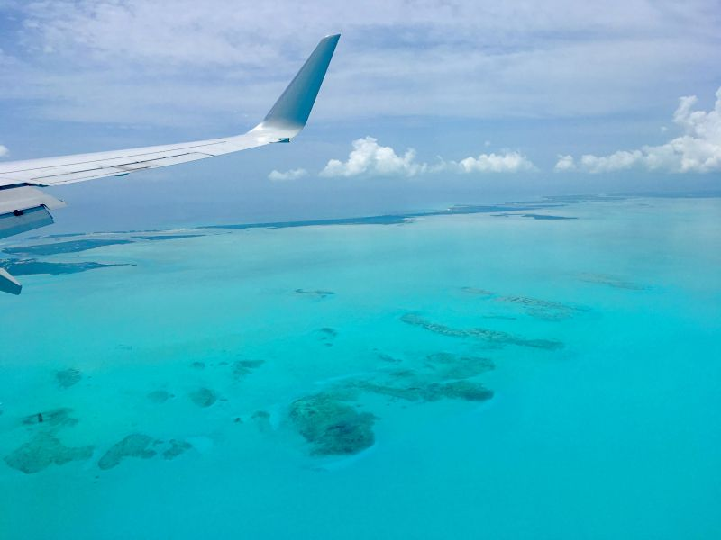 Carribean Sea from Plane
