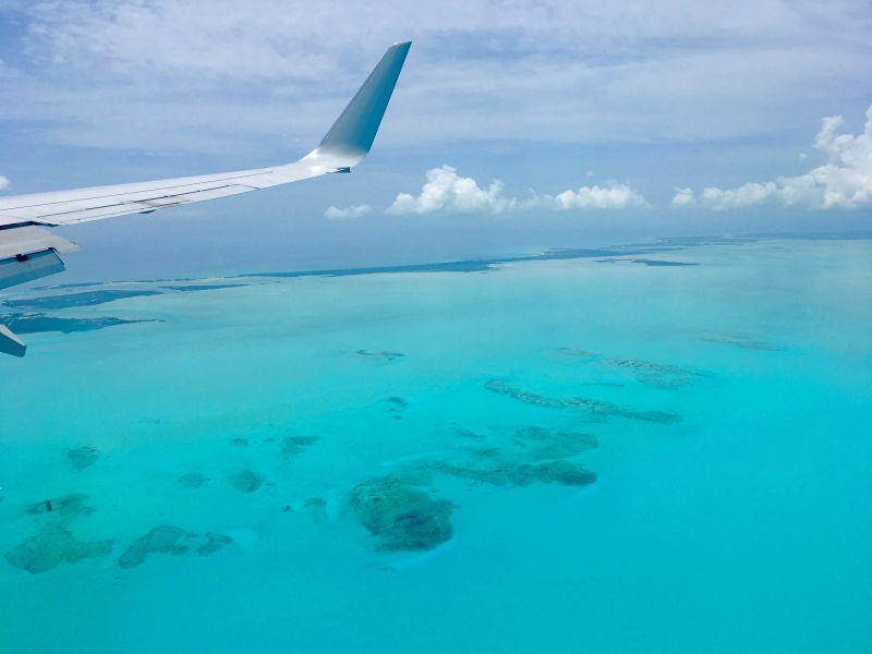 Carribean Sea from Plane