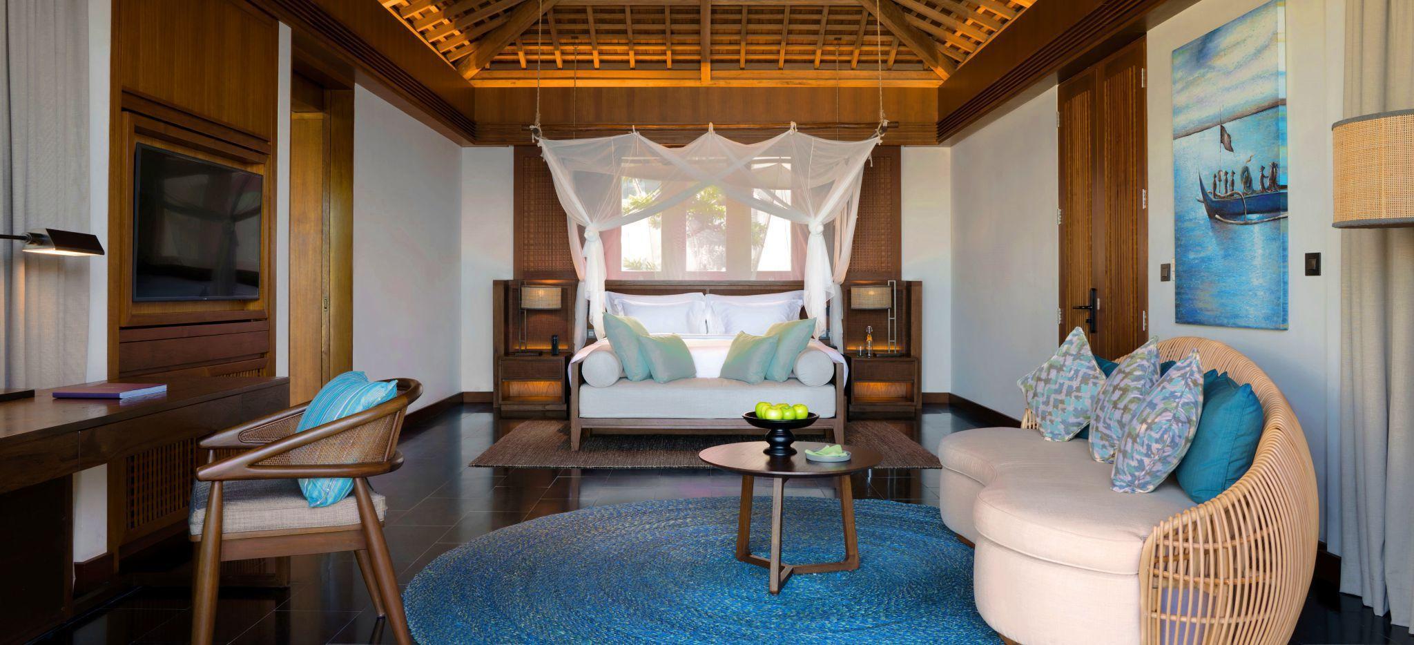 Wohnzimmer der One Bedroom Cliff Villa, Six Senses Uluwatu, Bali
