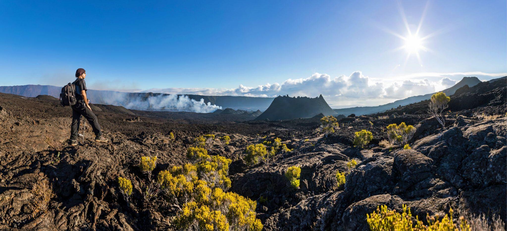 Wanderung auf dem Vulkan Piton de la fournaise auf der Insel La Réunion