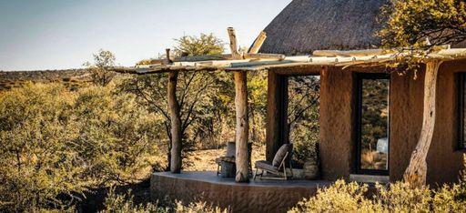 """Der Ausblick eines Hotelzimmers in der """"Omaanda Lodge"""""""