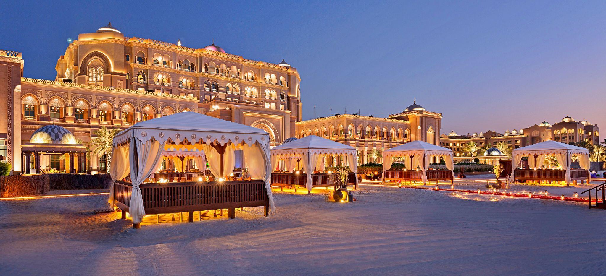 BBQ am Strand vor dem Hotel Emirates Palace Abu Dhabi