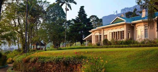 Das Hauptgebäude des Ceylon Tea Trails auf Sri Lanka