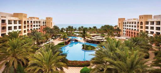 Luftaufnahme des Shangri-La Barr Al Jissah Al Bandar Resort nahe Maskat, Oman