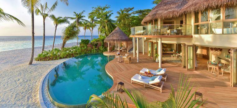 Beach Residence im Hotel Nautilus, Malediven