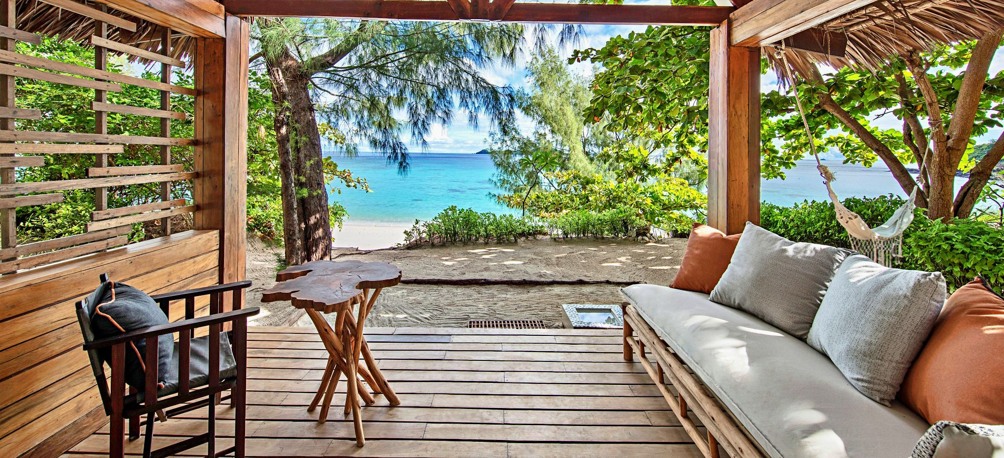 Terrasse einer Beach Villa, Madagaskar