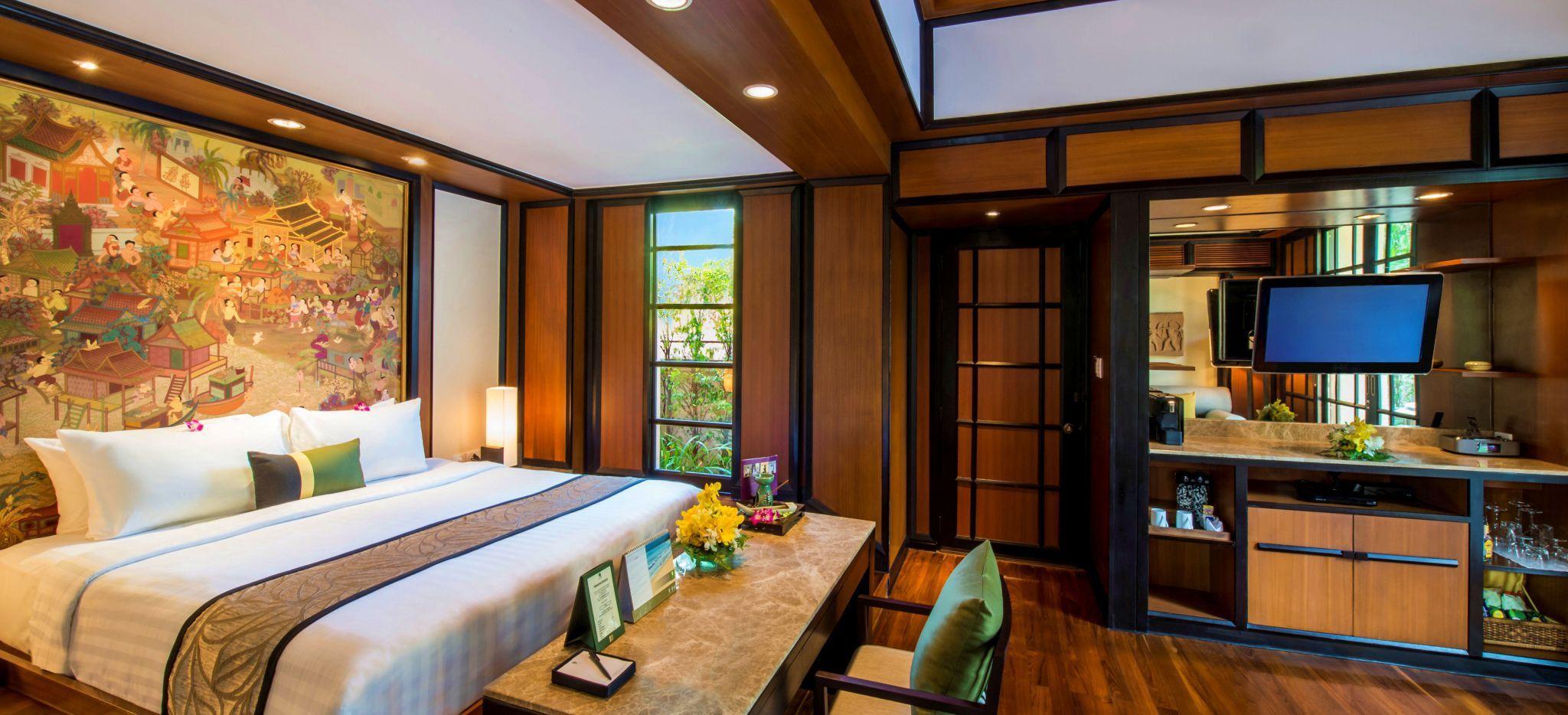 Ein großes Hotelzimmer