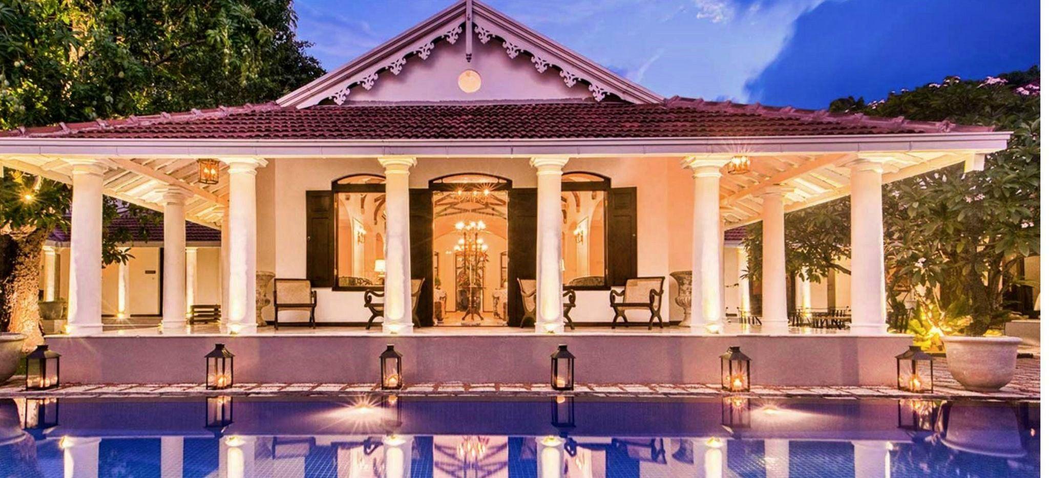 """Eine Hotellobby im klassischen Singhalesischen Stil, im Hotel """"Residence by Uga Escapes"""""""