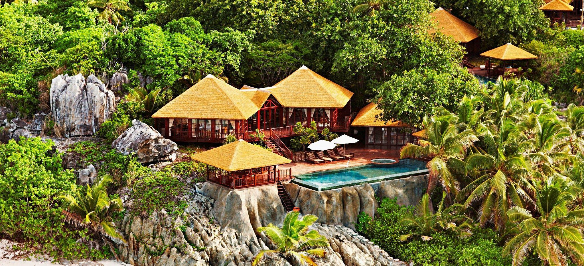 Eine Twin Villa auf Frégate Island, Seychellen