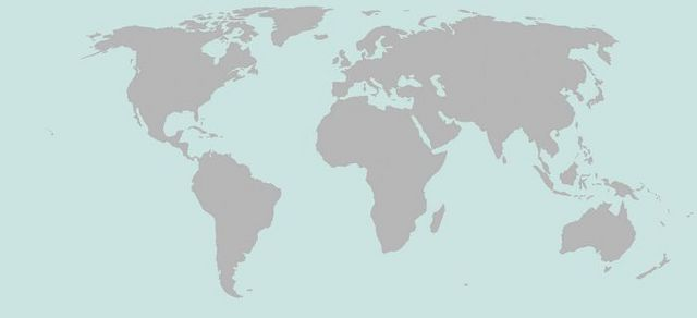 Auswahl über die Weltkarte