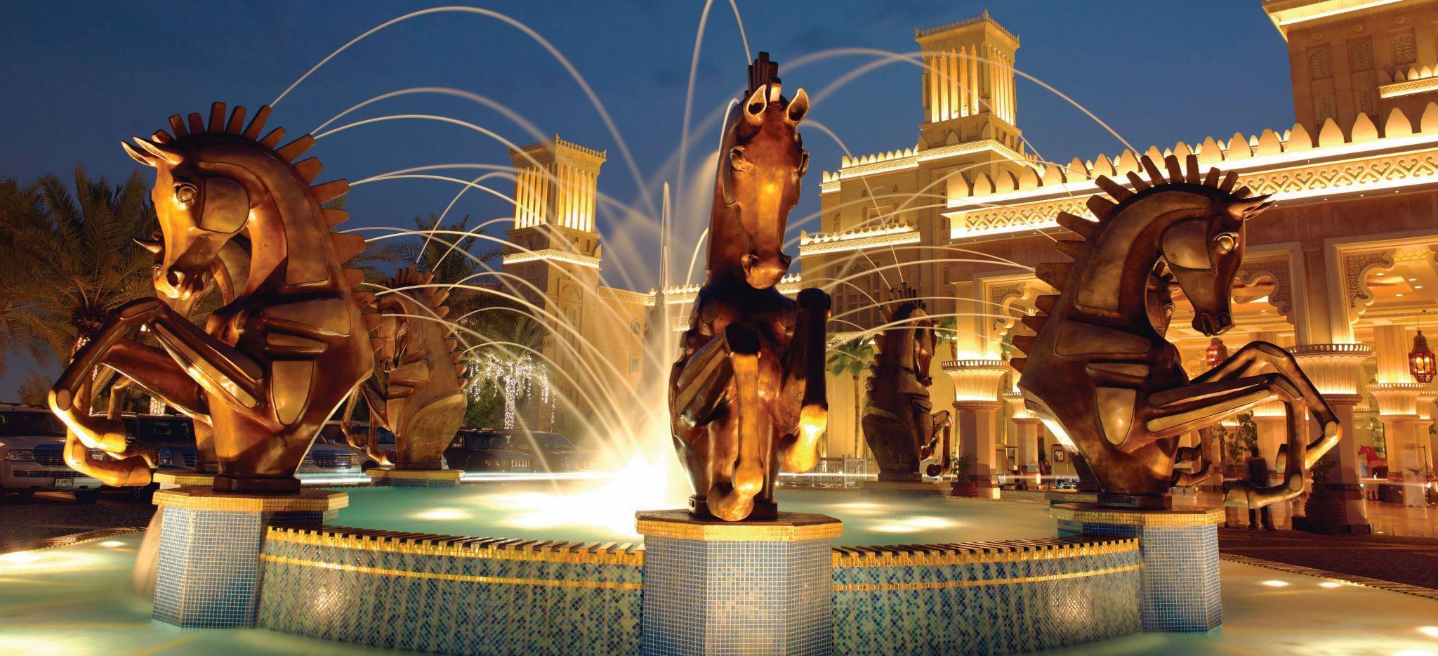 """Springbrunnen des Hotel """"Madinat Jumeirah Al Quasr"""""""