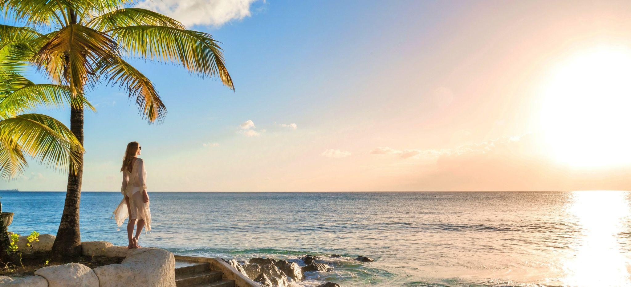 "Der Sonnenuntergang vor dem Hotel ""Coral Reef Club Barbados"""