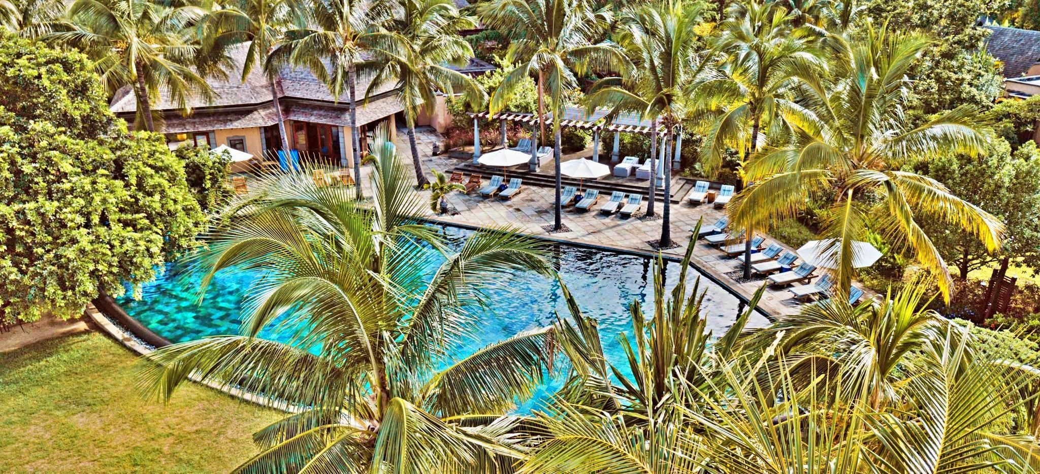 Der Hauptpool des Maradiva Hotel, Mauritius
