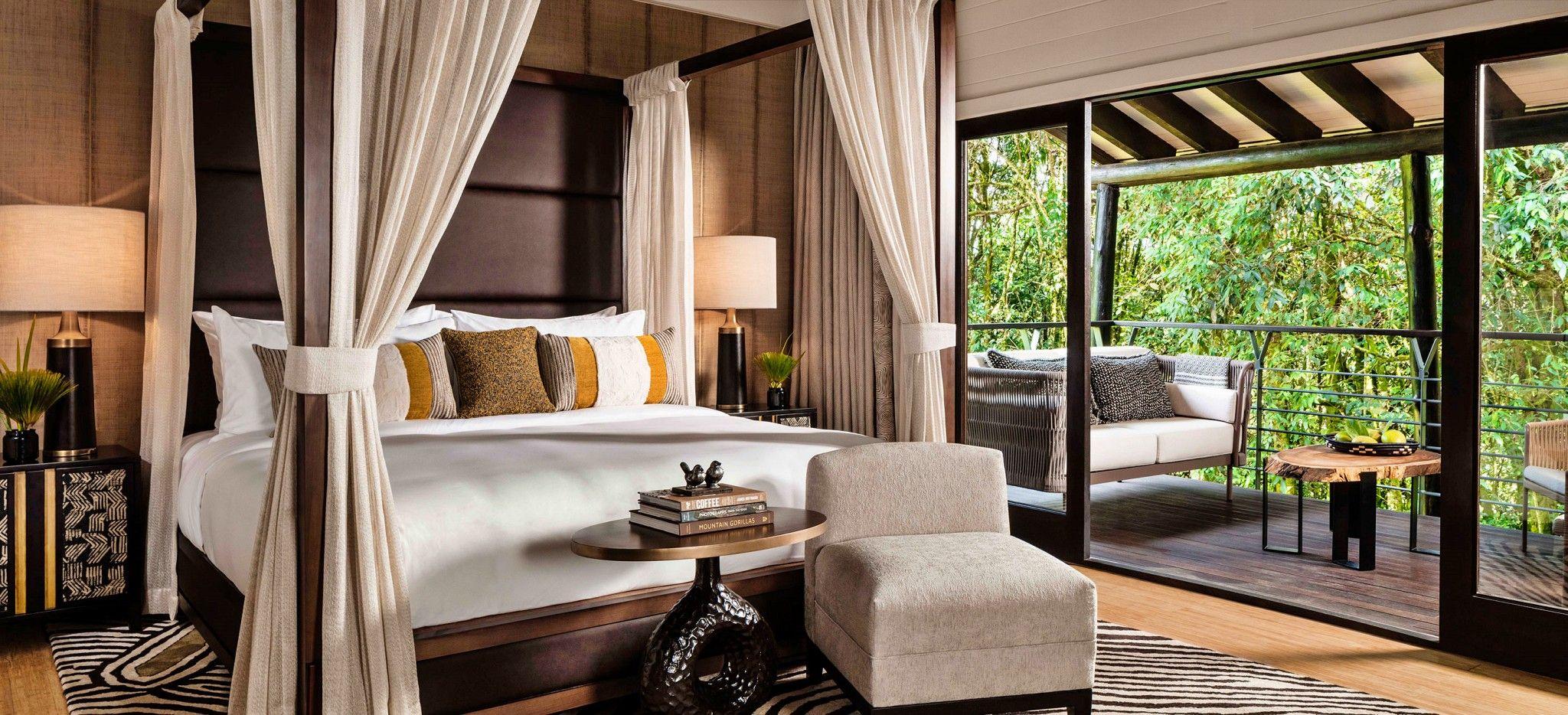 Das Schlafzimmer einer Suite im One&Only Nyungwe House