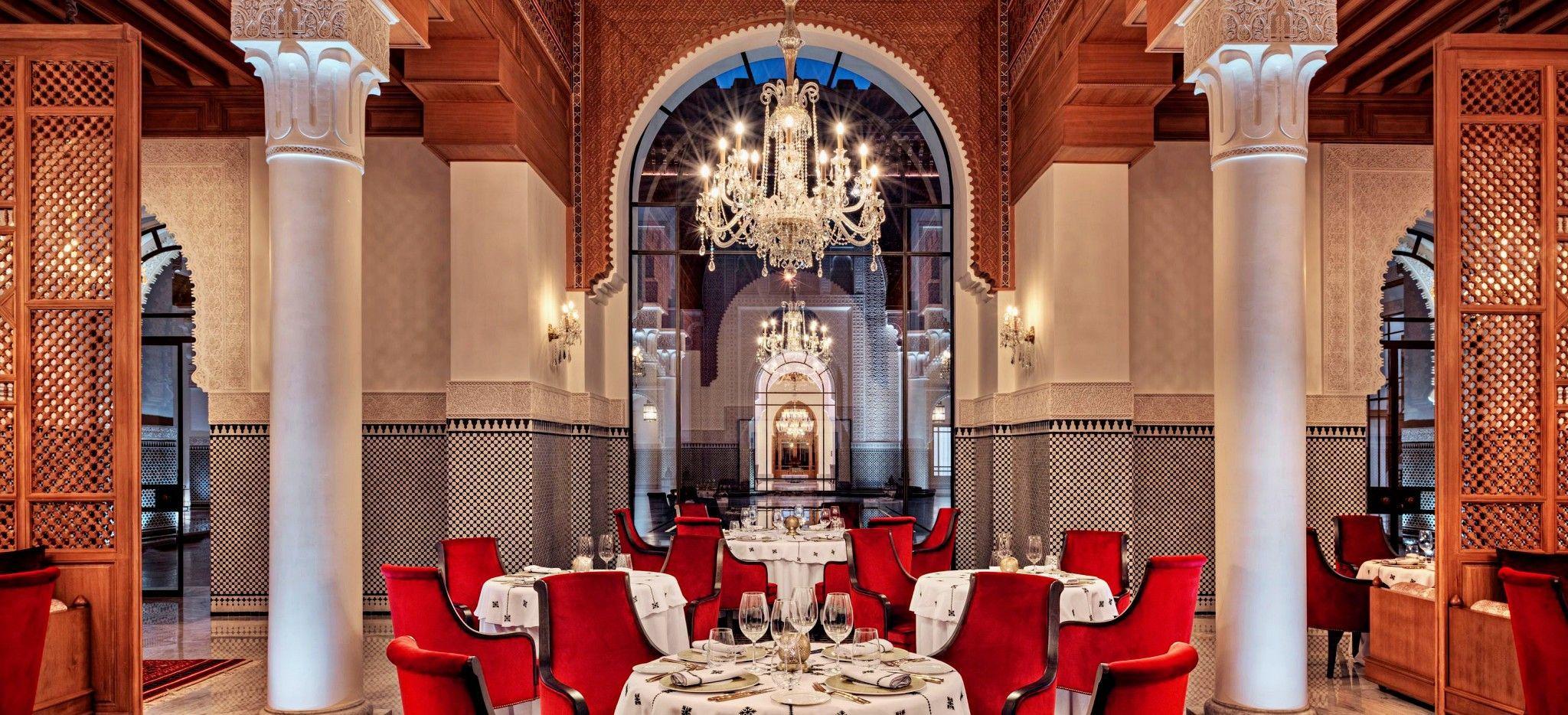 Das Restaurant Siniman im Hotel Oberoi Marrakech, Marokko