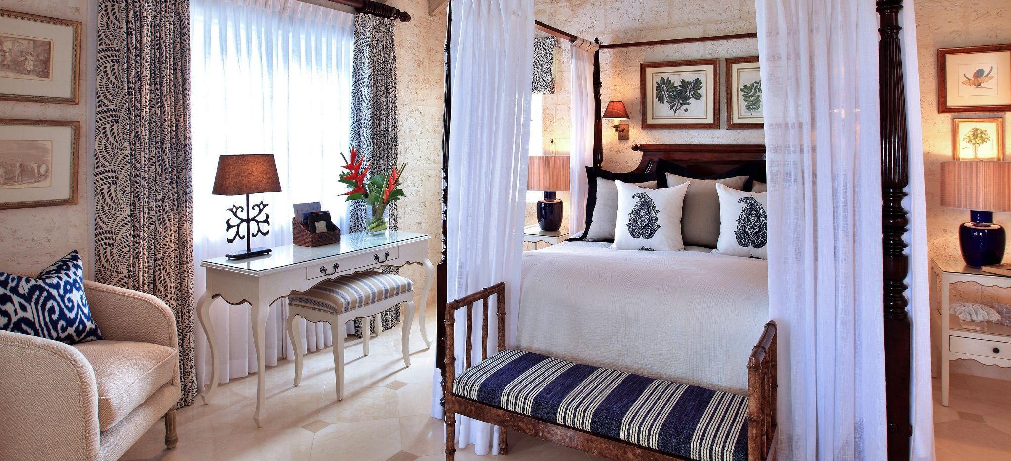 """Ein Schalzimmer im Hotel """"Coral Reef Club Barbados"""""""
