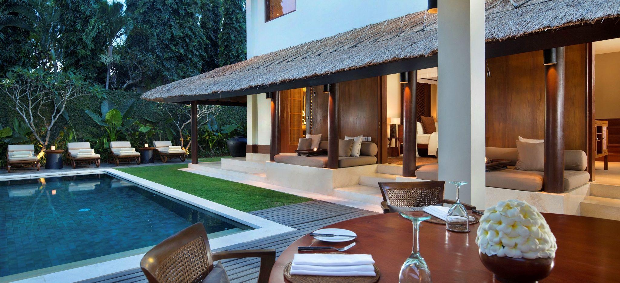 """Eine Villa mit einem privatem Pool, im Hotel """"The Legian"""" auf Bali"""