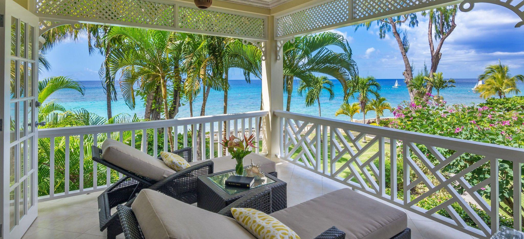 Ein Balkon im Coral Reef Club Barbados