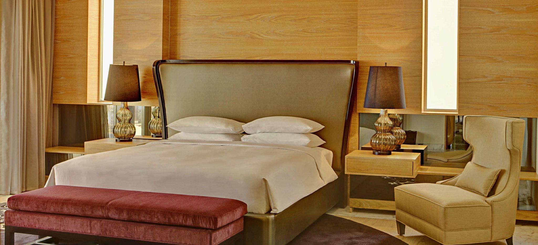 Schlafzimmer der Royal Villa des Park Hyatt Abu Dhabi