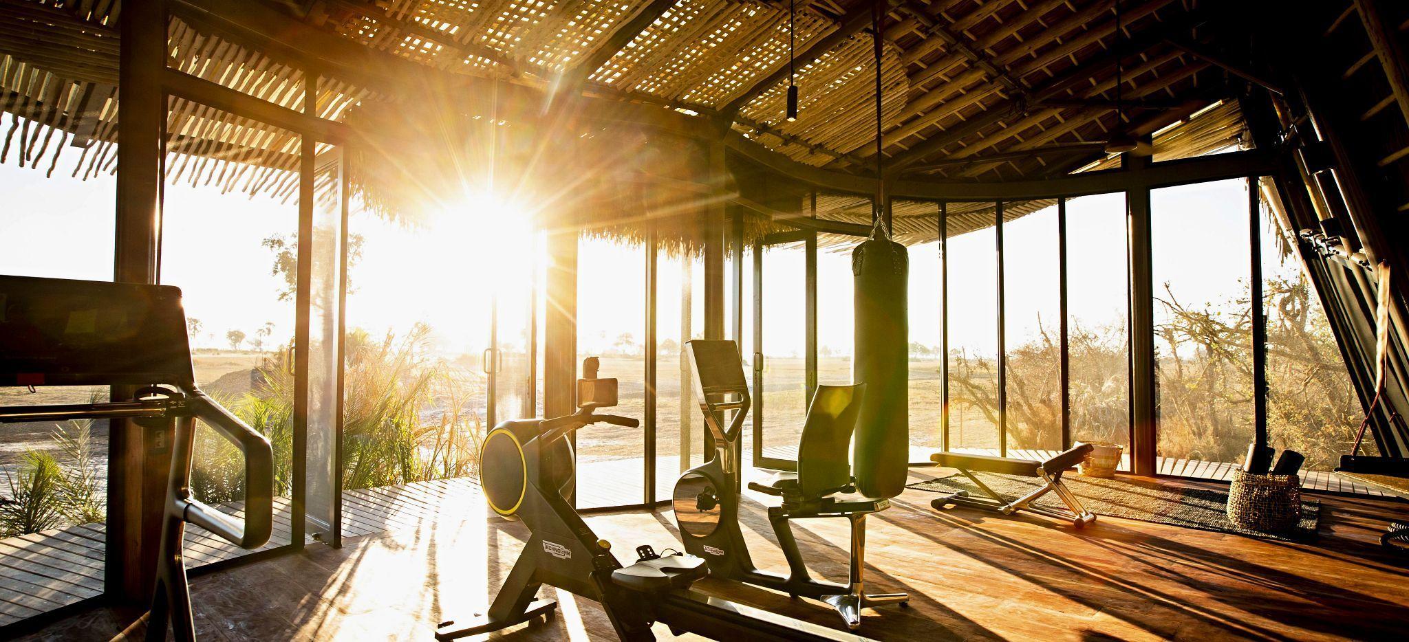 Das Fitnessstudio des Jao Camp, Botsuana