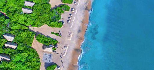 "Luftaufnahme des Hotels ""Jungle Beach"" auf Sri Lanka"