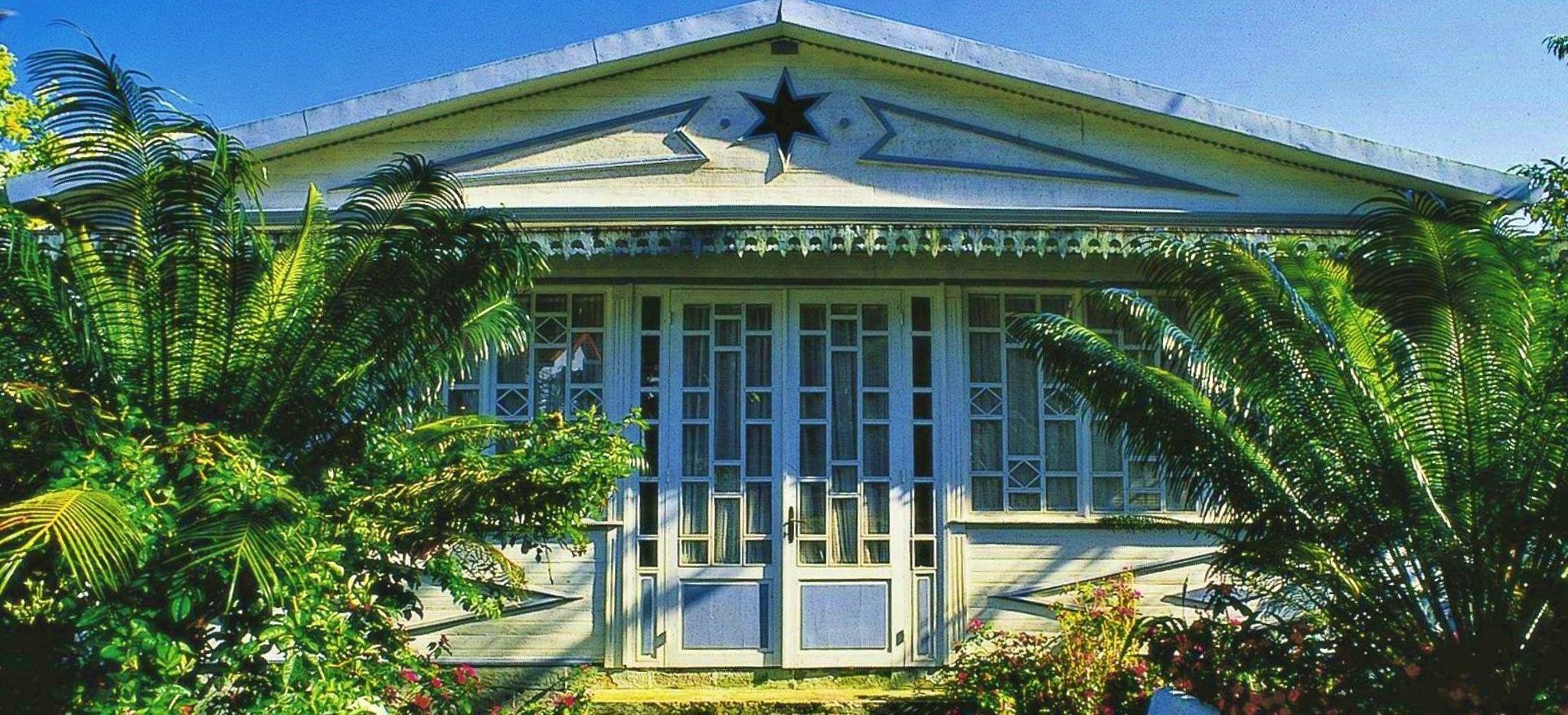 """Das Hauptgebäude des Hotel """"le Relais des Cimes"""" auf La Réunion"""