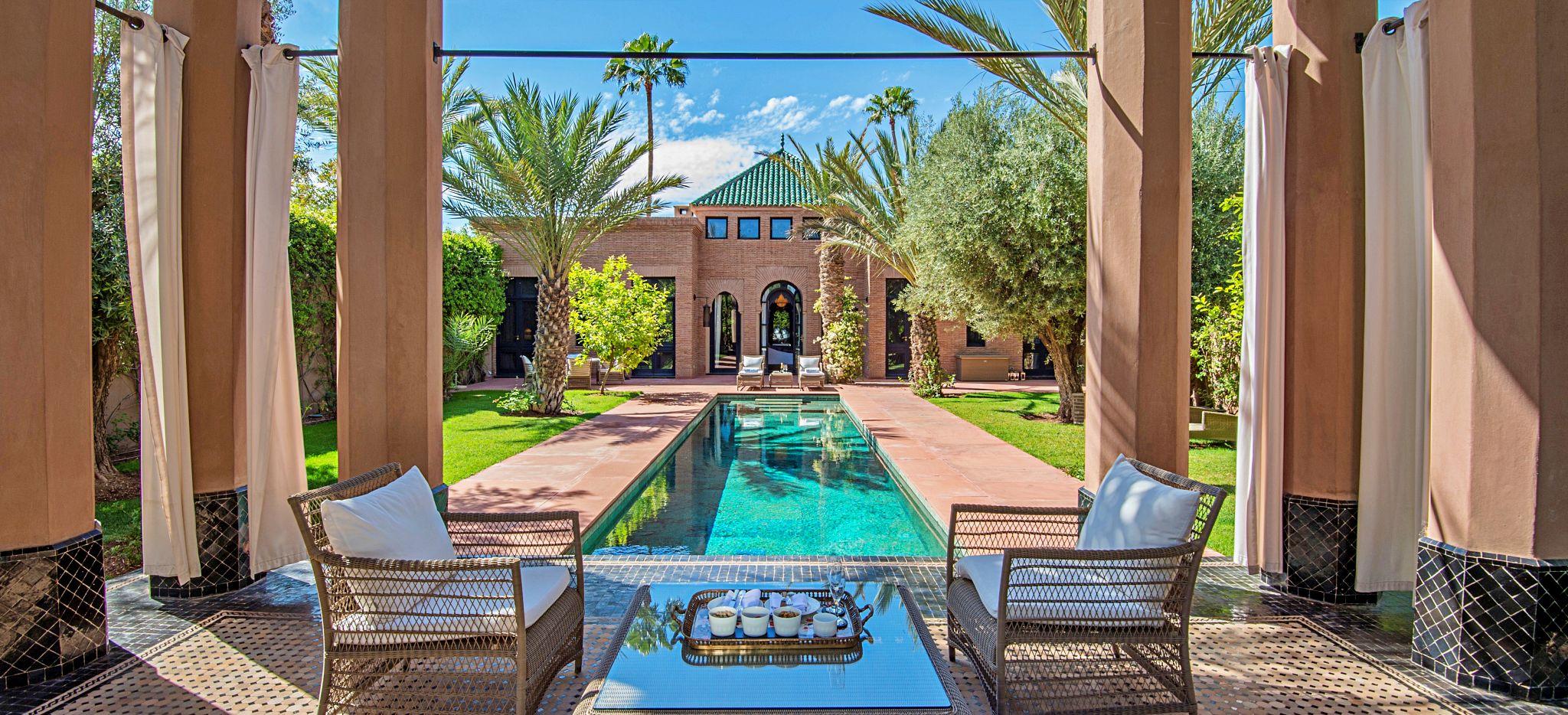 Privater Pool einer Villa, Hotel Selman, Marokko